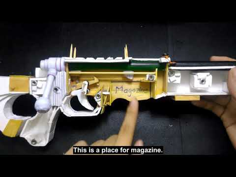 #3 How to make an AWM Sniper Rifle that shoots paper bullets with BOLT-ACTION mechanics (Tutorial)