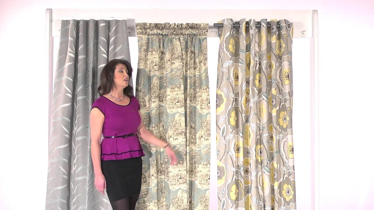 Back tab curtains on traverse rod - Back Tab Curtains On Traverse Rod
