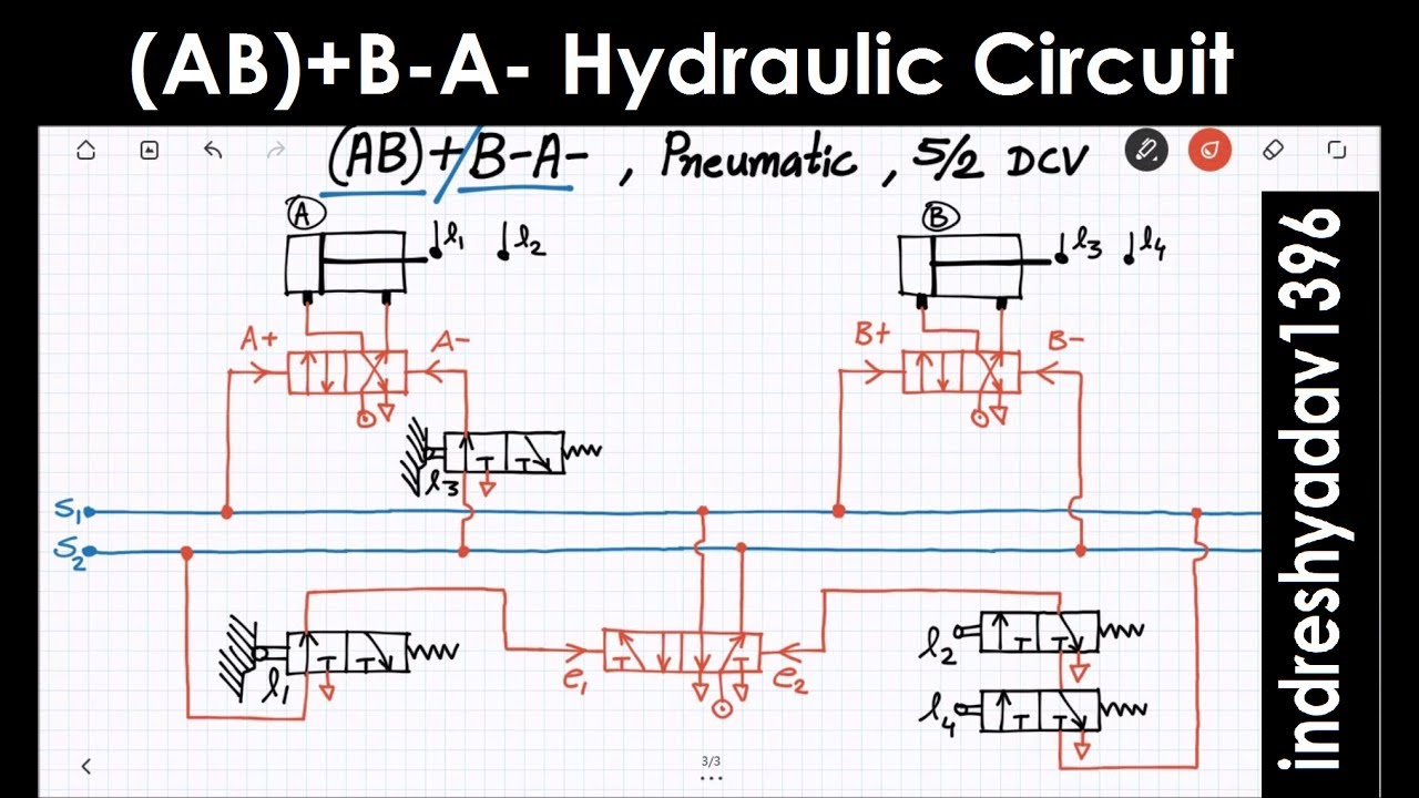 Ab B A Hydraulic Pneumatic Circuit Series Part 4 Youtube