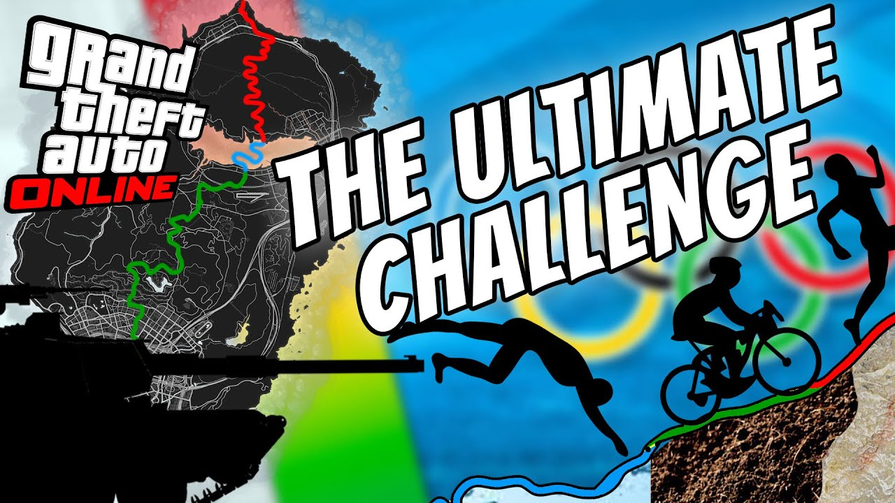 Can you WALK, SWIM and BIKE across the map in GTA Online without Dying? (Triathlon Challenge)