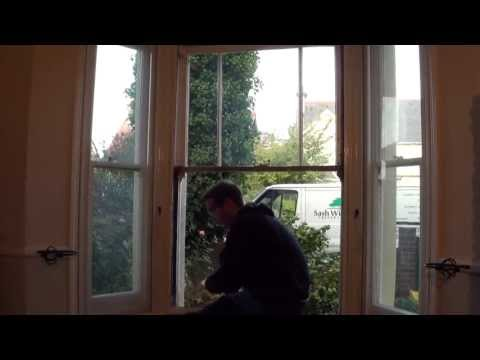 Sash Window Preservation - Double Glazing and Draught Proofing Demo