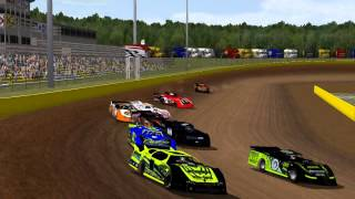 Rfactor - Dirt Late Model Race - Cedar Lake 15 Laps