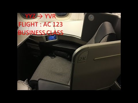 AIR CANADA BUSINESS CLASS || TORONTO → VANCOUVER || AC 123 || B777-300ER
