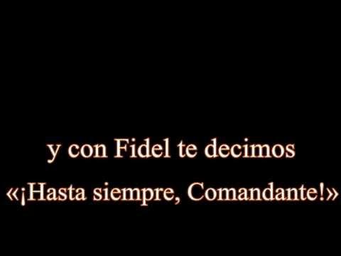 Spanish Songs - Hasta Siempre Comandante - Carlos Puebla - with Lyrics and Translation