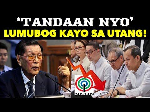 ABS-CBN at MERALCO LUMUBOG sa UTANG NAGPASAKLOLO sa GOBYERNO! IBINULGAR ni ENRILE ang KATOTOHANAN!