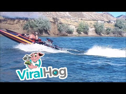 Boats Helps to put a Fire out    ViralHog