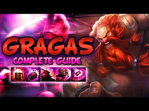 GRAGAS FULL GUIDE SEASON 8 - Combos, Jungle Tips, Best Outplays, Best Tips - League Of Legends