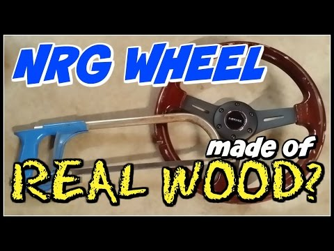 CUTTING AN NRG WOOD GRAIN WHEEL!!! IS IT REAL WOOD?