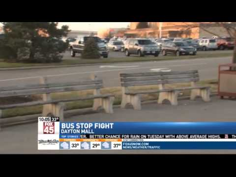 Protesters Claim Dayton Mall Bus Stop Breaks A