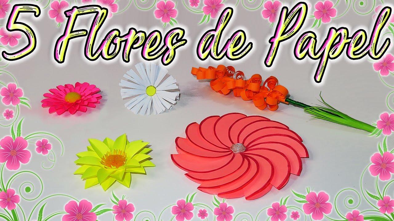 🌷🌸 DIY: 5 Flores de Papel para el Día de la Madre 🌸🌷