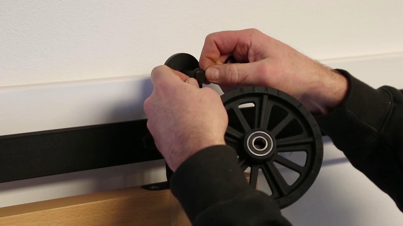 How to Assemble a Top-Mounted Spoke Wheel Barn Door Hardware