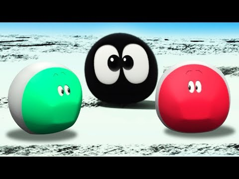 Colorful Crayons For Children | Squishy Running WonderBalls Funny Kids Shows