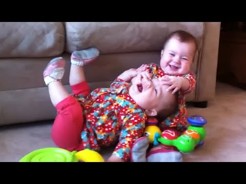 Funny Twin Babies Fighting Over Stuff - Funny Baby Videos (2017)