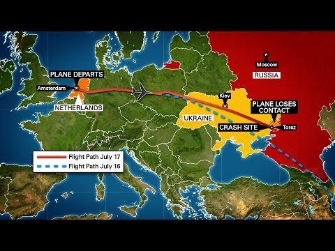 Malaysia Airlines Flight 17 crash area Ukraine Google Earth Map