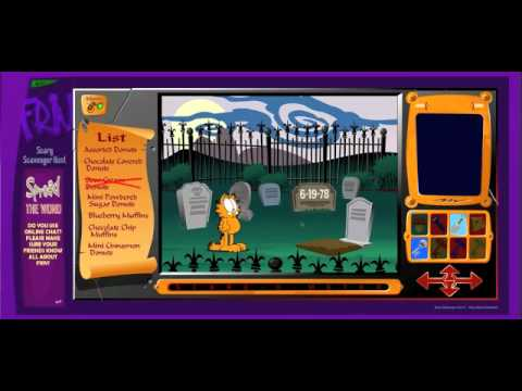 Garfield Scary Scavenger Hunt 2 Play Game
