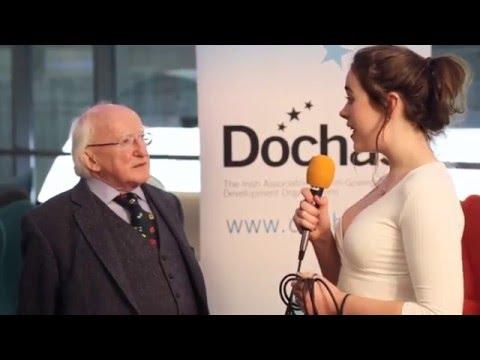 President Michael D  Higgins   interviewed by YMCA Ireland at 2016 Irish Summit on SDGs