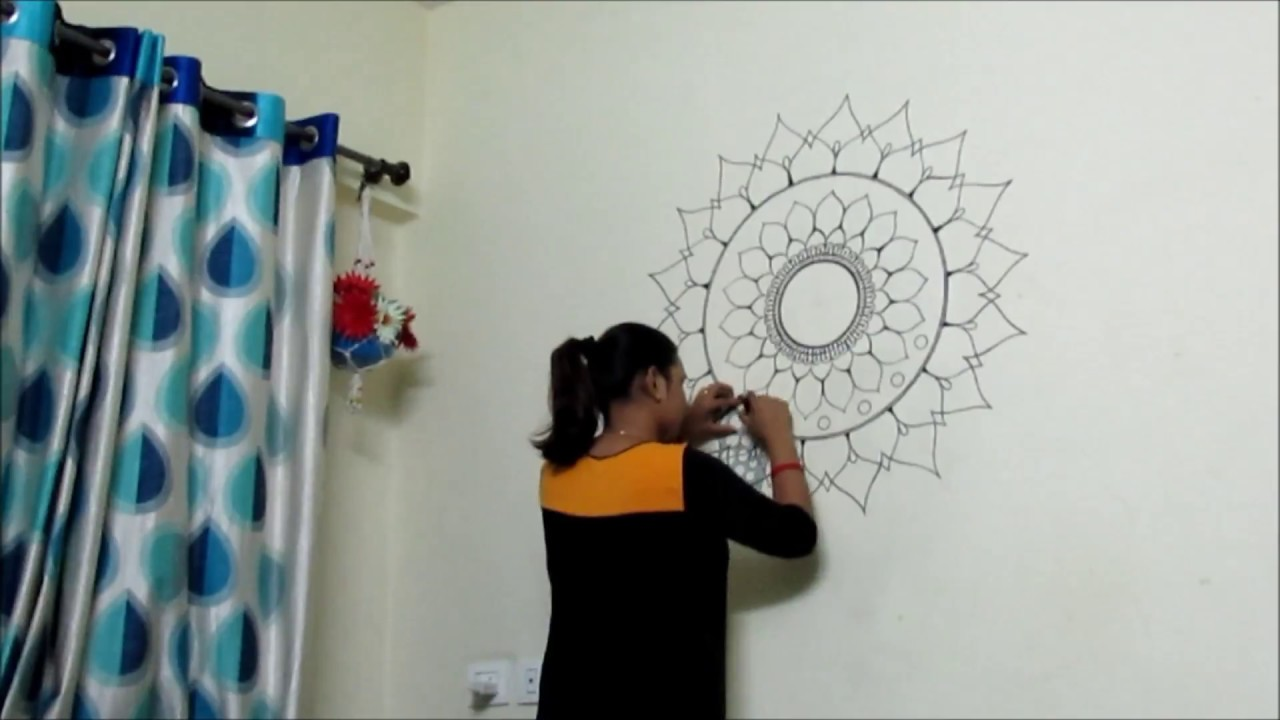 How To Paint A Mandala On Wall No Stencils
