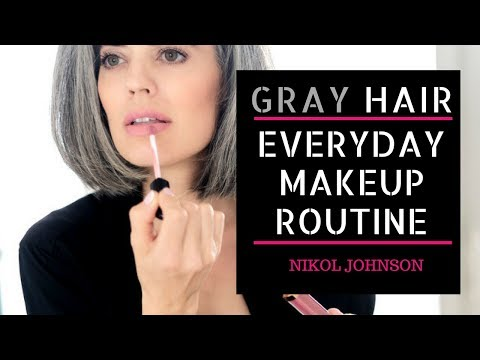 GRAY HAIR | My Everyday Makeup Routine | Nikol Johnson