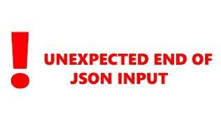 Не загружается значок видео Ютуб Ошибка Unexpected end of JSON input