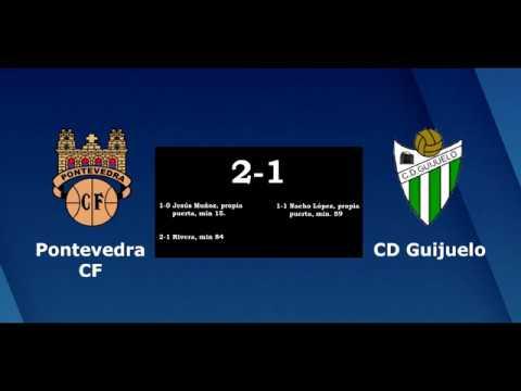 Os goles do Pontevedra C.F. 2-1 C.D. Guijuelo