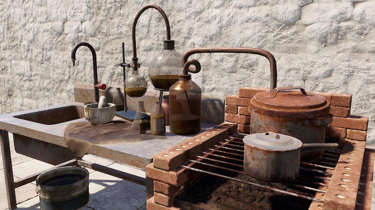 Rust - Mixing Table! Чай и Бафы для игрока!