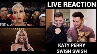 Katy Perry ft. Nicki Minaj - SWISH SWISH (Official Video)   REACTION