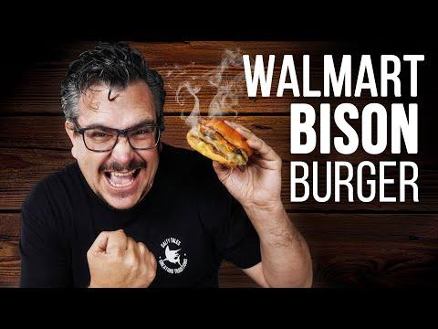 HOMEMADE WALWART Bison BURGER