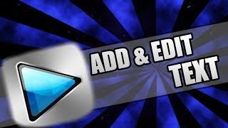 How to add animated text in sony vegas.