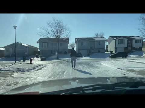 Ice skating the streets of Lincoln