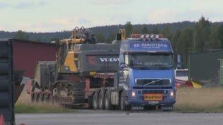 Transport of Volvo EC480E on Volvo FH16 610hp 8x4