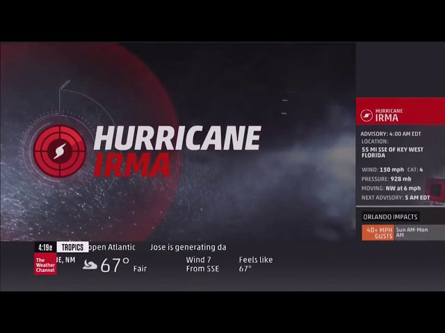 [RED MODE] The Weather Channel Local On 8s Hurricane Irma September 10 2017