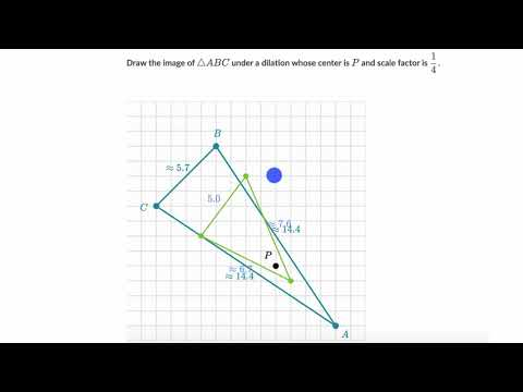Dilating a triangle example