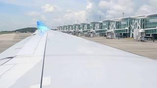 Garuda Indonesia PK-GPN Landing in Sultan Aji Muhammad Sepinggan Balikpapan.