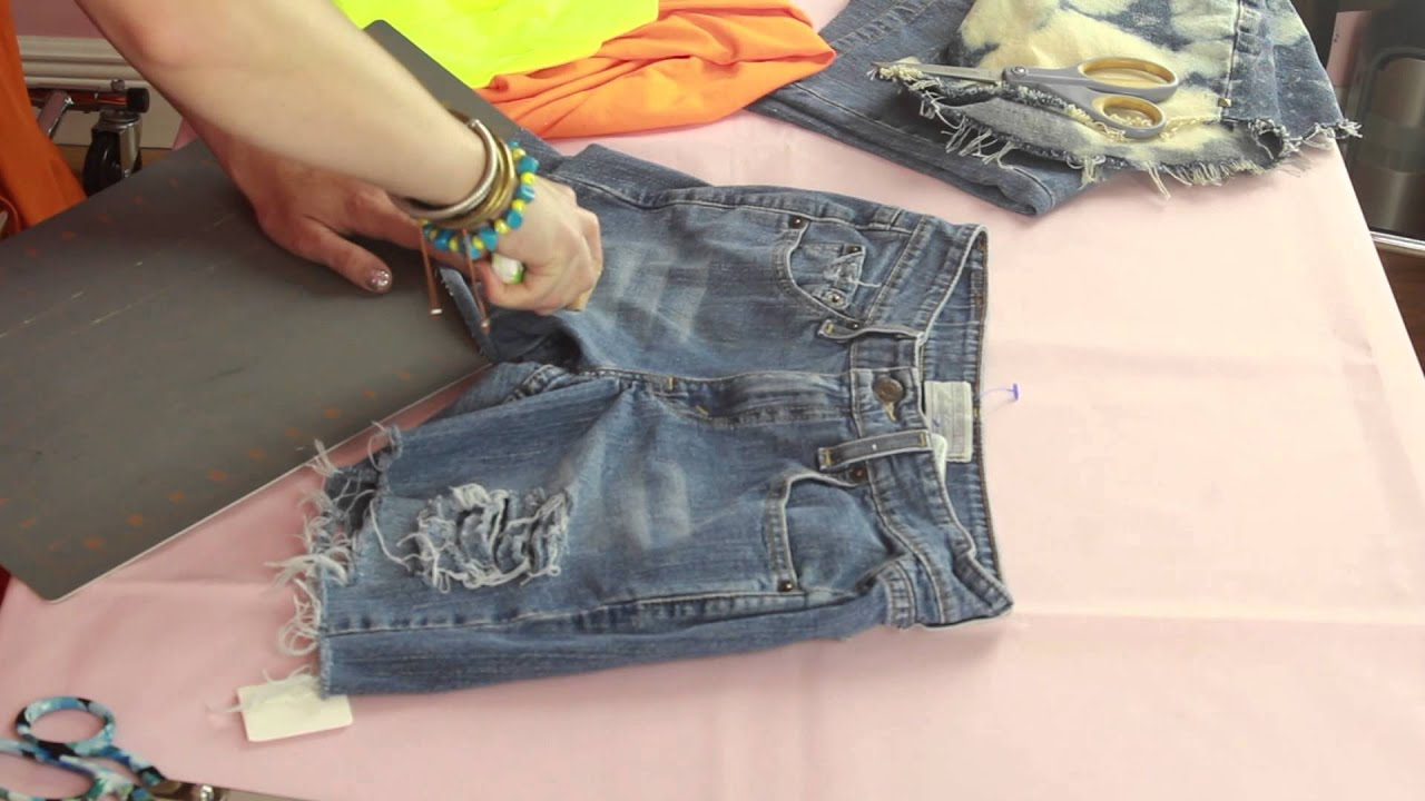 How Can I Fray &amp Distress Jean Shorts Myself? : Style Creations