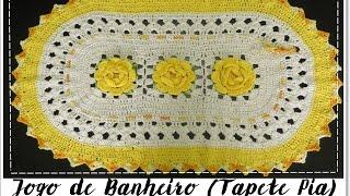 Jogo de banheiro amarelo – Tapete da pia com Diane Gonçalves