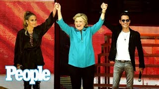Hillary Clinton Joins Jennifer Lopez On Stage At Free Miami Concert | People NOW | People