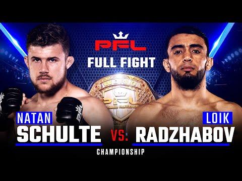 PFL 2019 Final: Натан Шульте - Лоик Раджабов /  Schulte vs. Radjabov