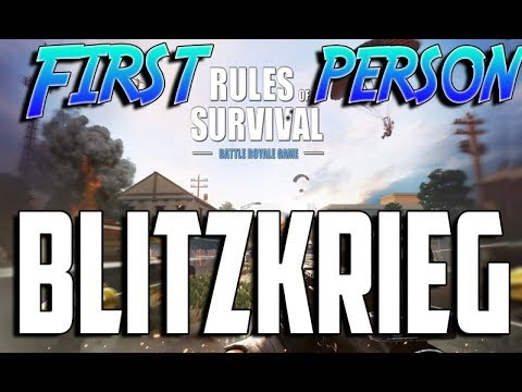First person Blitzkrieg while everyone else is 3rd person
