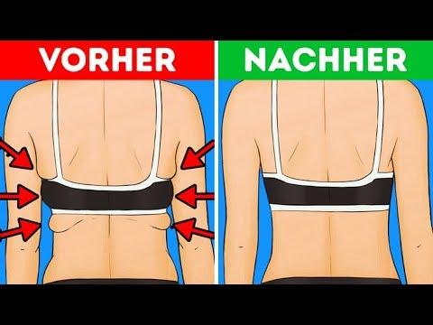 Frauen mit breitem Rücken abnehmen