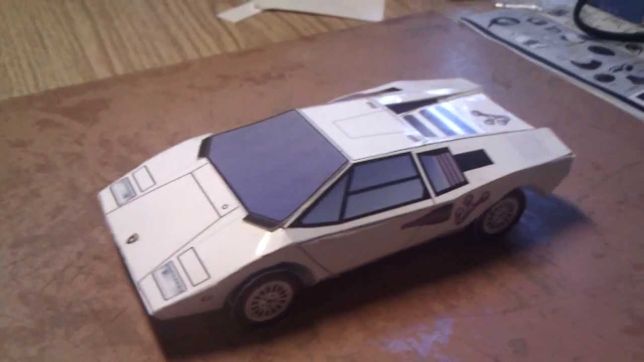 Lamborghini Countach Lp400 Paper Craft Youtube