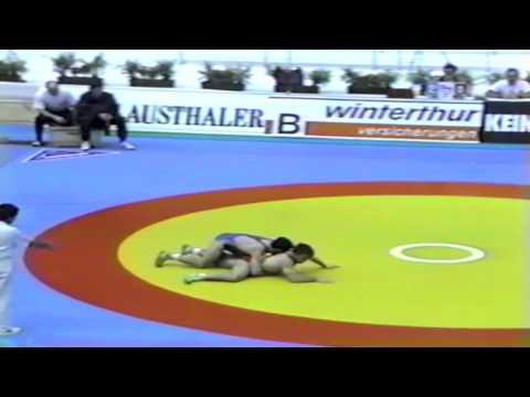 1991 European Greco Championships: 74 kg Zeljko Trajkovic (YUG) vs. Mnazakan Iskandaryan (USSR)