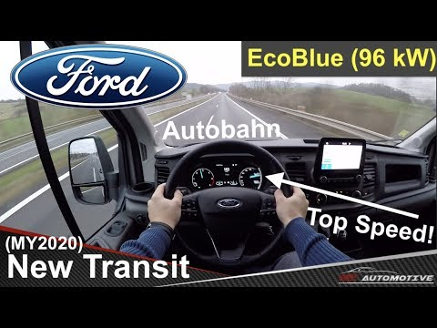 Ford Transit (MY2020) EcoBlue 130 POV Test Drive + Acceleration 0 - 100 Mph (160 Km/h)