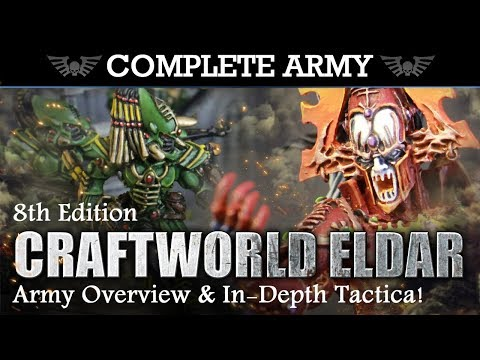 CRAFTWORLD ELDAR Army Overview & In-Depth Tactica 2000pts Warhammer 40K 8th Edition