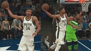 NBA 2K18 My Career - Giannis Dunks on Butler! PS4 Pro 4K Gameplay