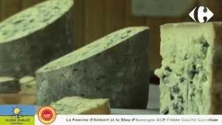 Découvrez la Fourme d'Ambert AOP au lait cru Filière Qualité Carrefour