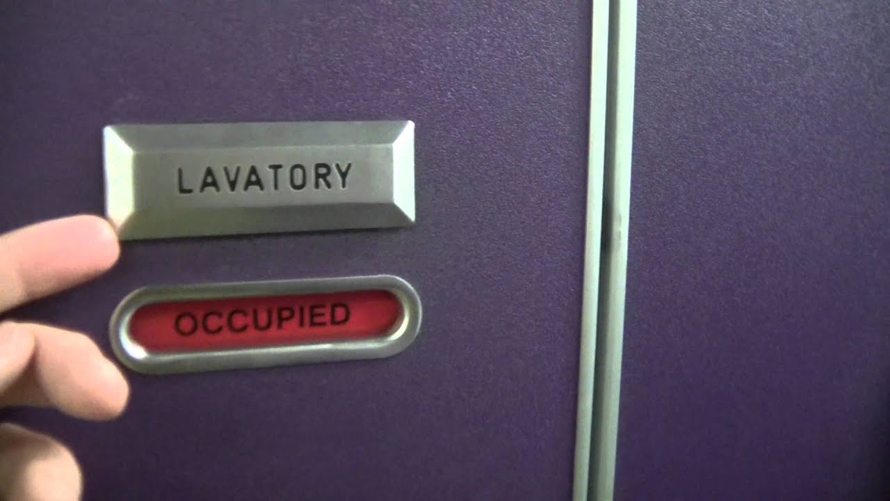 How to open an airplanes inside locked lavatory door from