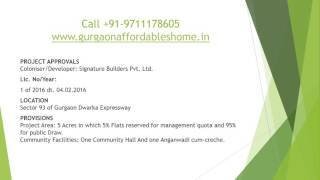 """Orchard Avenue"" By  SIGNATURE GLOBAL Launcing in Sector 93 Gurgaon"