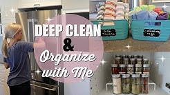 DEEP CLEAN & ORGANIZE WITH ME // CLEAN WITH ME 2018 // EXTREME CLEANING MOTIVATION // KITCHEN