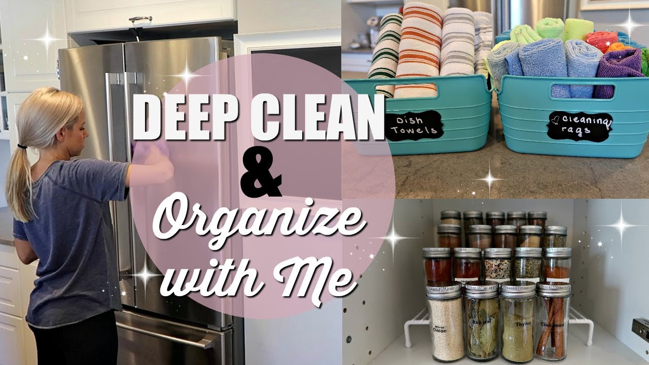 Deep Clean Organize With Me Clean With Me 2018 Extreme Cleaning Motivation Kitchen