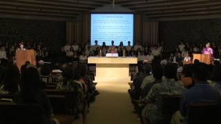 2015 Punahou School Japanese Language Department Graduation Ceremony (May 22, 2015)